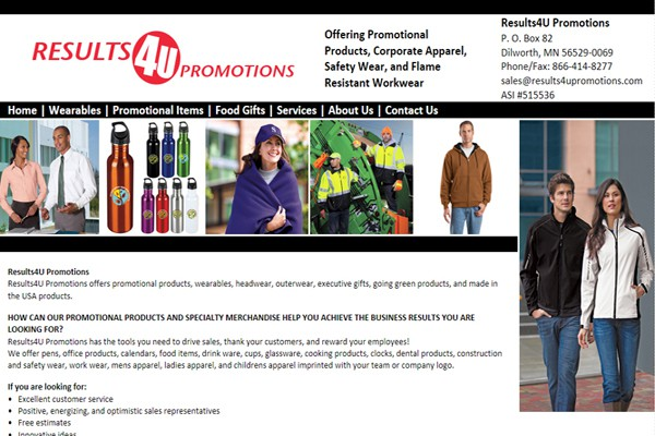 Promotional Products and Corporate Apparel Company - Dilworth, Minnesota